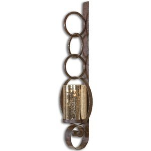 Uttermost Falconara Metal Iron Bronze Antique Rustic Wall Sconce