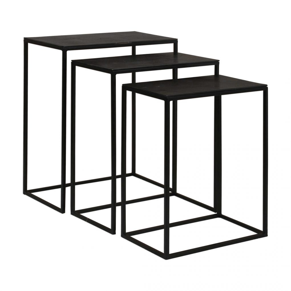 Uttermost Coreene Nesting Tables Set of 3 Metal Modern Contemporary Small