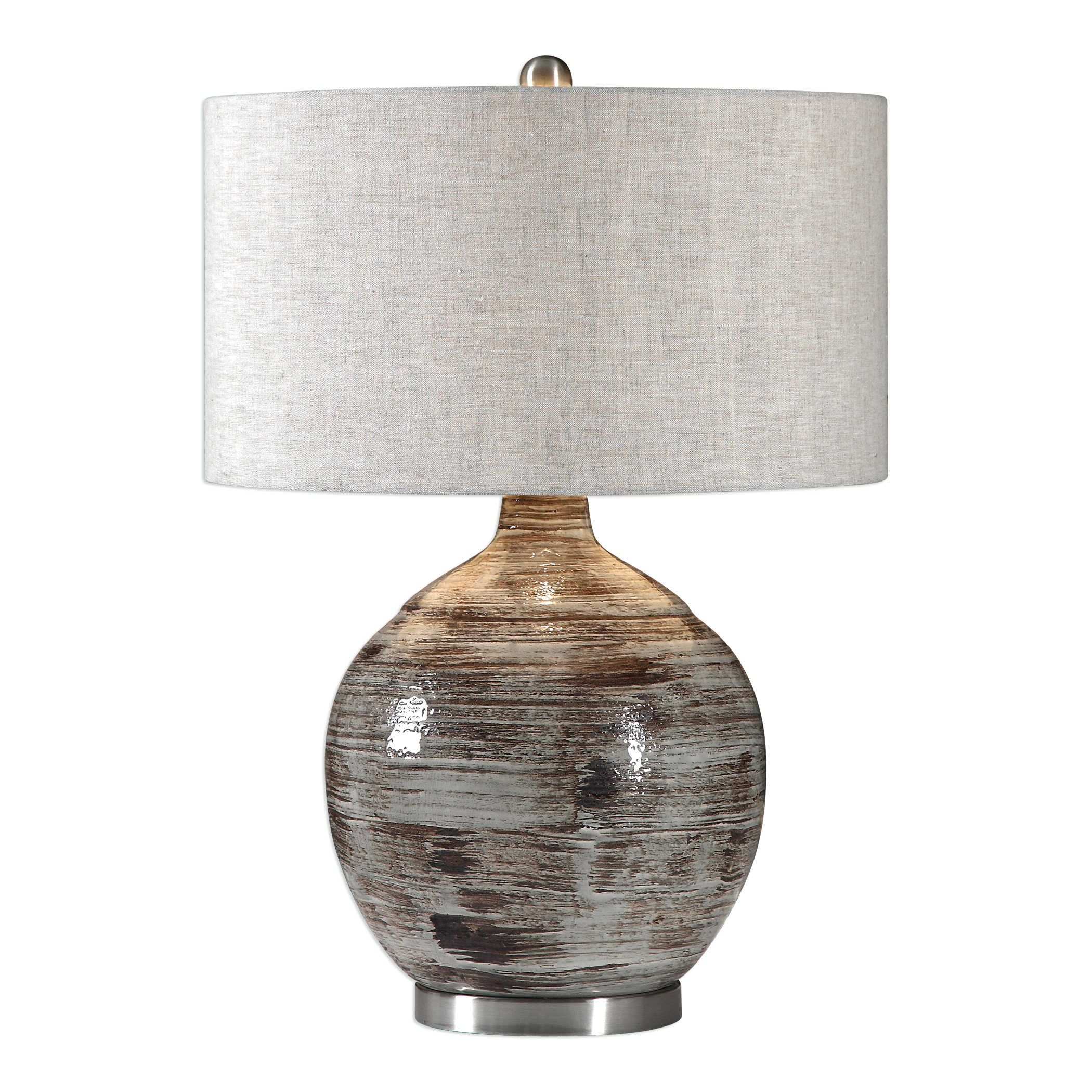 Uttermost Tamula Table Lamp Ceramic Distressed Shade Lighting Lampshade Distressed Contemporary