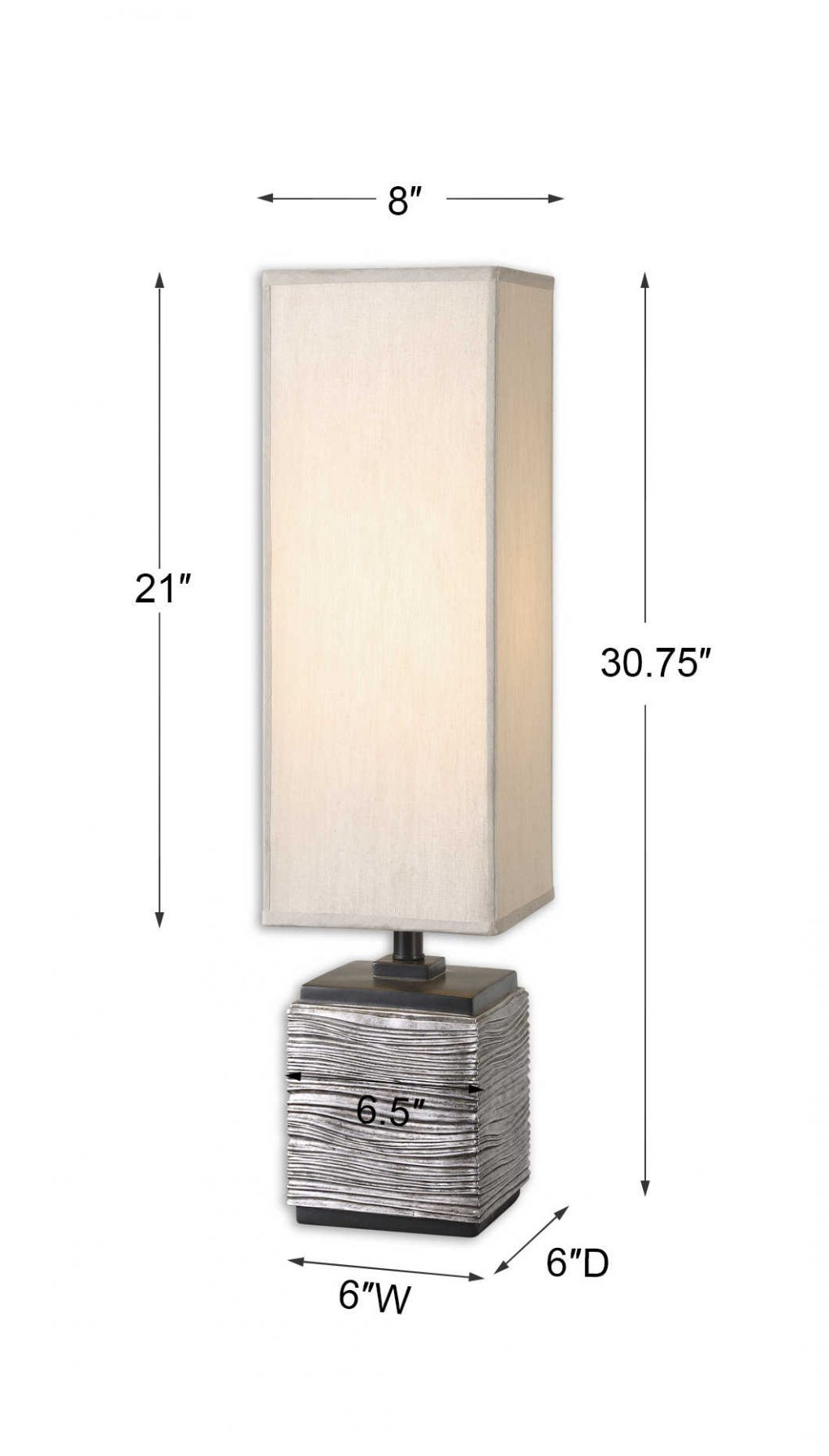 Uttermost Ciriaco Buffet Lamp Table Short Silver Medal Modern Light Shade