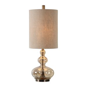 Uttermost Formoso Accent Lamp Home Decor Glass Modern Chic Classy Round Great Gatsby Bubble Bottom Unique Natural Colors Gold