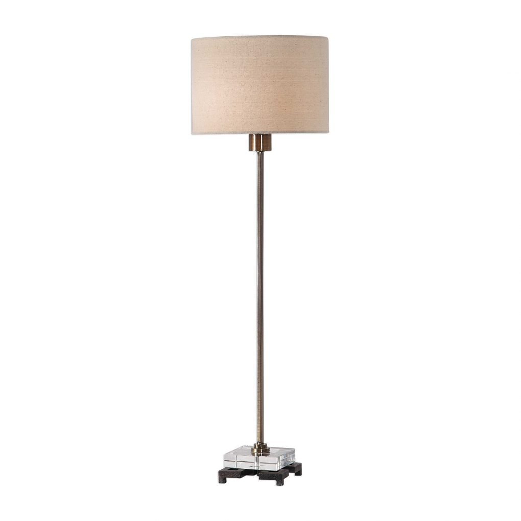 Uttermost Danyon SImple Modern Silver Natural Table Lamp