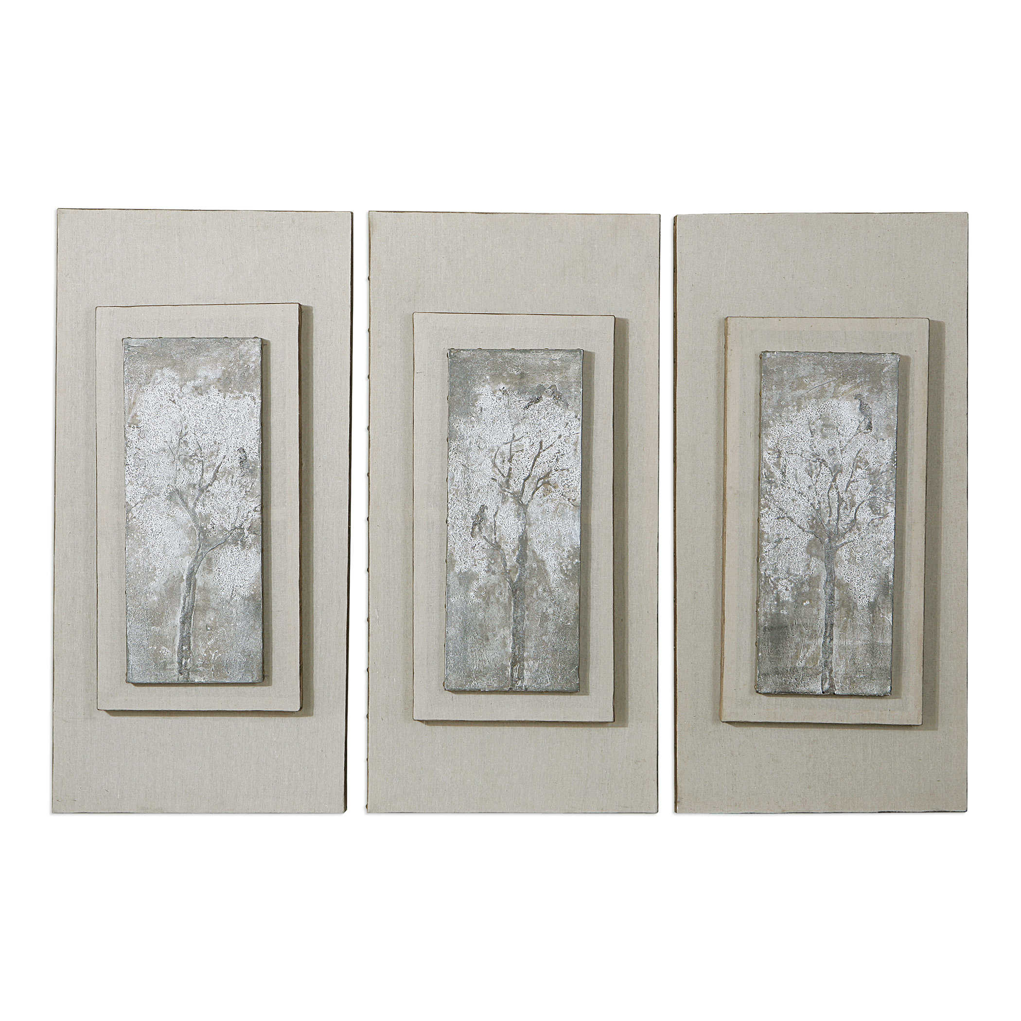 UTTERMOST TRIPTYCH TREES HAND PAINTED CANVASES Art Painting Natural Artistic Pretty Contemporary