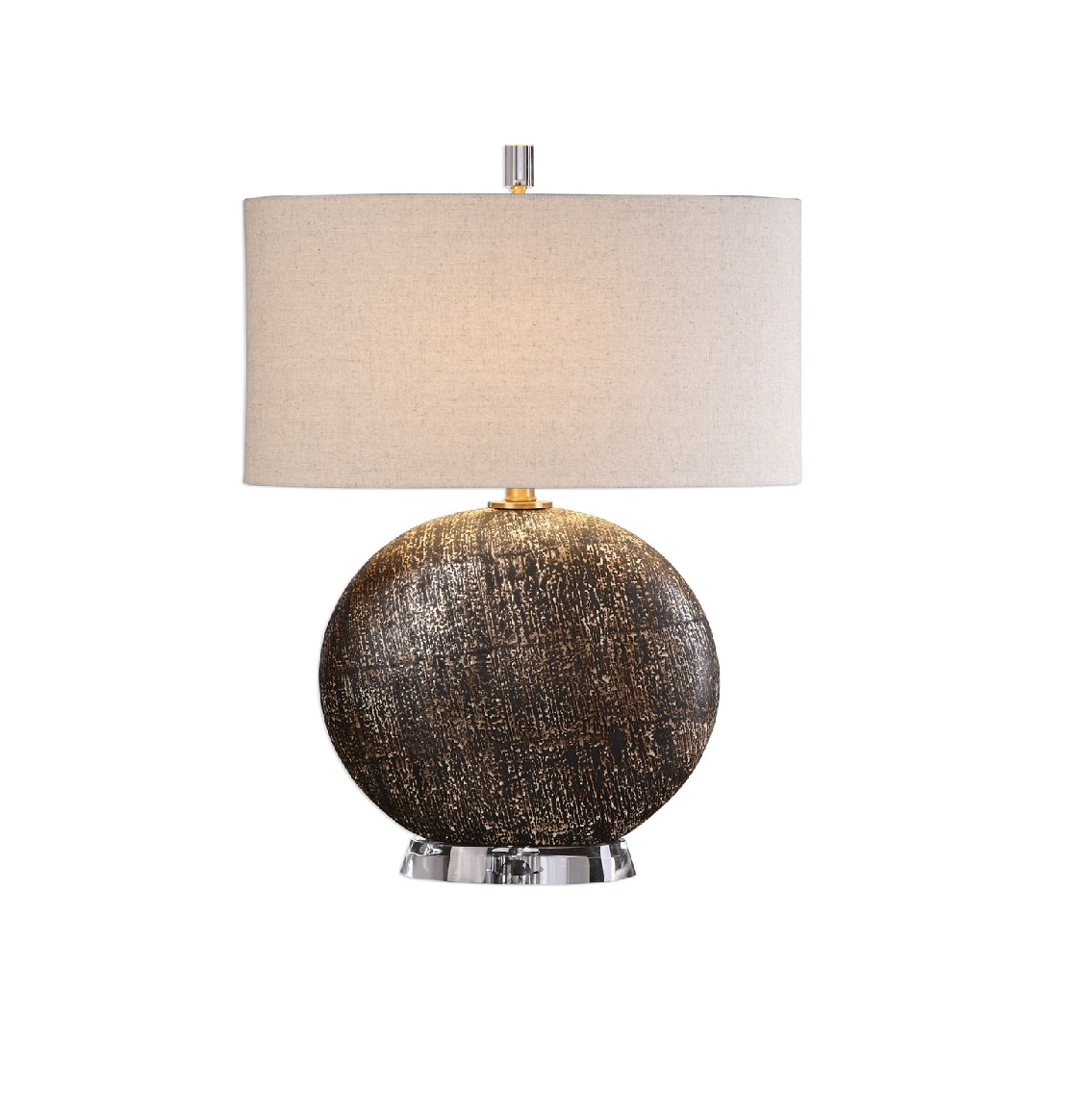 Uttermost Chalandri Table Lamp Brown Rustic Contemporary Distressed