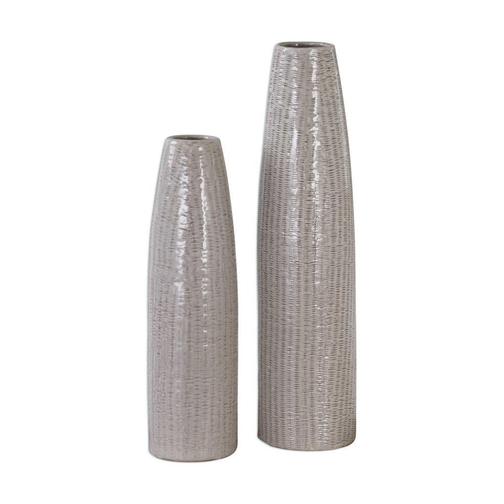 Uttermost Sara Vase Grey Neutral Natural Brown Tall Vase