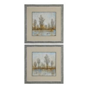 Uttermost Quiet Nature Print Rustic Metal Art Painting