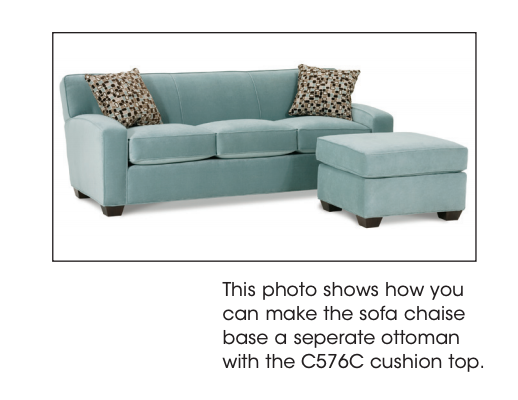 Rowe Upholstered Horizon Chaise Sofa