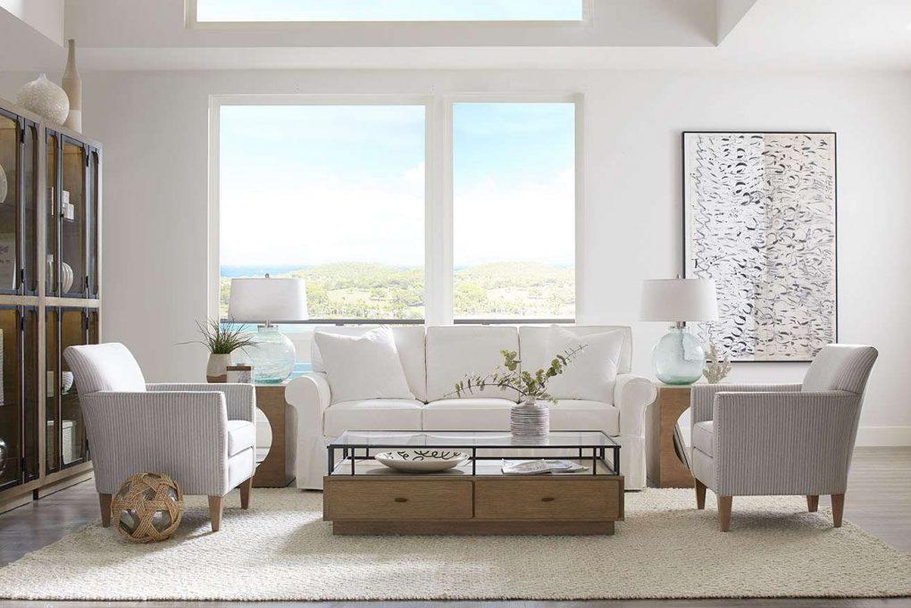 Rowe Upholstered Nantucket Three Cushion Sofa