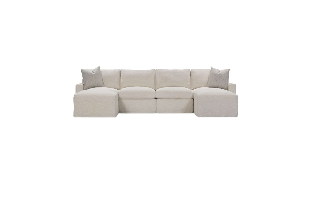 Rowe Upholstered Asher Slipcover Sectional Sofa