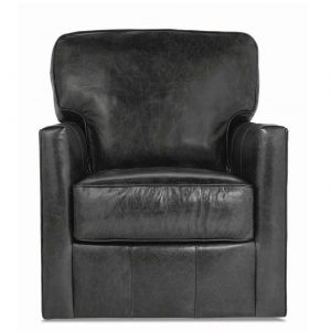 Rowe Evan Leather Swivel Chair