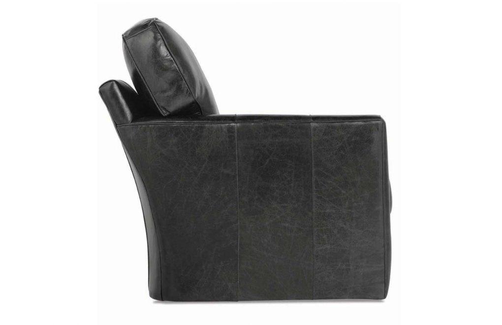 Rowe Evan Leather Swivel Chair