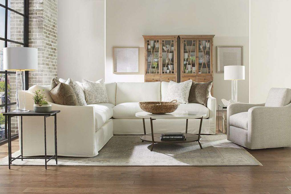 Rowe Upholstered Bradford Slipcover Sectional Sofa