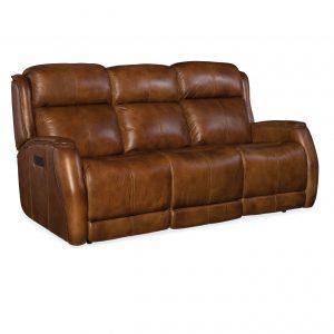 Hooker Furniture Living Room Emerson Power Recliner Sofa w/ Power Headrest