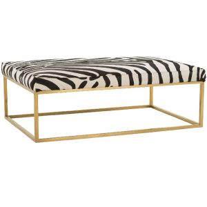 Rowe Percy Hair hide cocktail table