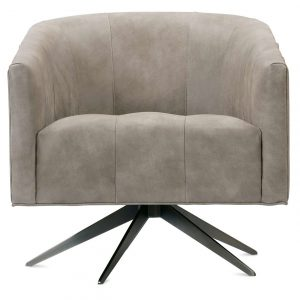 Rowe Pate Leather Swivel Chair