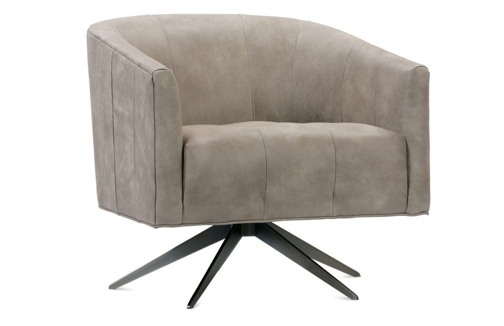 Rowe Pate Leather Swivel Chair
