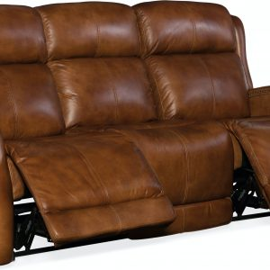 Hooker Furniture Living Room Emerson Power Recliner Sofa w/ Power Headrest