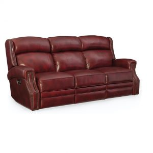 Hooker Furniture Living Room Carlisle Power Motion Sofa w/ Power Headrest