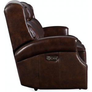 Hooker Furniture Living Room Carlisle Power Recliner Sofa w/ Power Headrest
