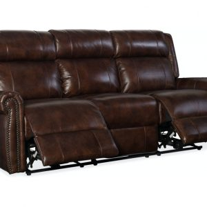 Hooker Furniture Living Room Esme Power Recliner Sofa w/ Power Headrest
