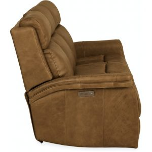 Hooker Furniture Living Room Poise Power Recliner Sofa w/ Power Headrest