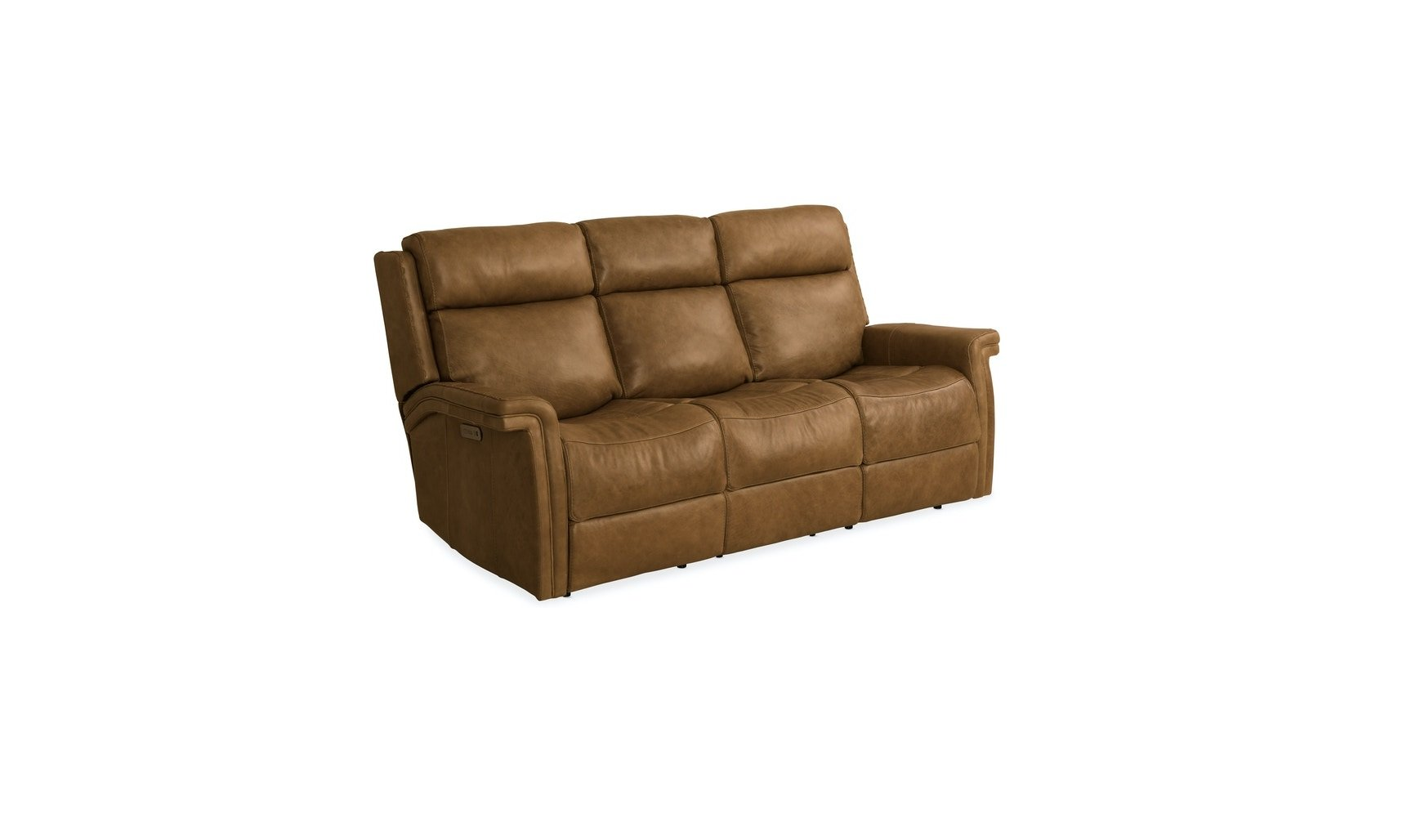 Hooker Furniture Living Room Poise Power Recliner Sofa w/ Power Headrest