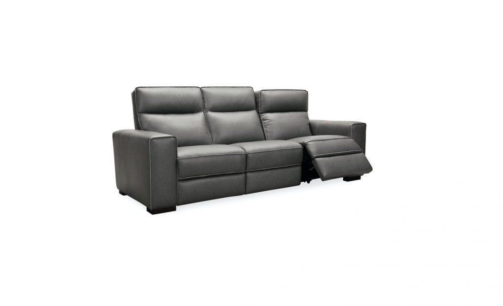 Hooker Furniture Living Room Braeburn Leather Sofa w/PWR Recline PWR Headrest