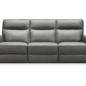 Hooker Furniture Living Room Braeburn Leather Sofa w/PWR Recline PWR Headrest