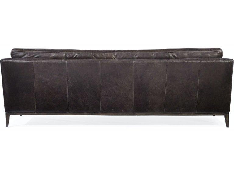 Hooker Furniture Living Room Kandor Leather Stationary Sofa