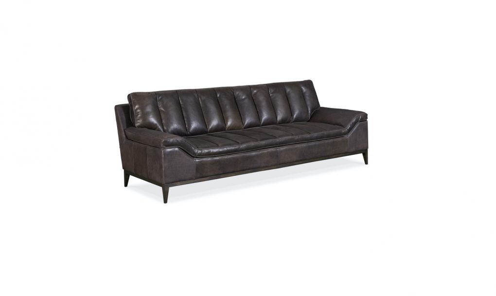 Hooker Furniture Living Room Kandor Leather Stationary Sofa
