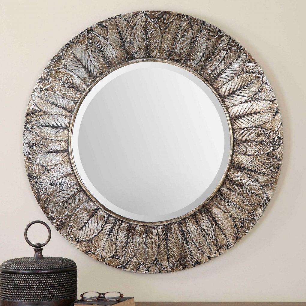 Uttermost Foliage Round Mirror